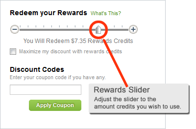 Diet Direct Rewards Slider