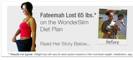 WonderSlim Weight Loss Success Story - Fateemah